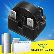 QP2-4.7 Start Relay Refrigerator PTC For 4.7 Ohm 3 Pin Vissani Danby Compressor