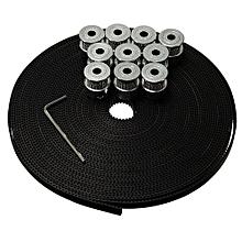 10Pcs GT2 Pulley 20T Bore5mm + 5M GT2 Belt 3D Printer Parts For CNC RepRap Prusa