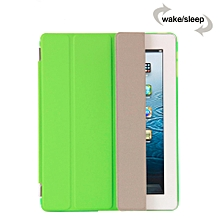 Smart Luxury PU Leather Ultra Slim Smart Magnetic Wake/Sleep Flip Pad Cover + Translucent Protect Case for Apple iPad 2/3/4 SM0005 (Green) CHD-Z