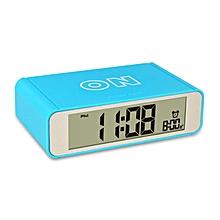 LED Touch Luminous Digital Electronic Creative Night Light Flip Snooze Mechanical Desk Alarm Clock