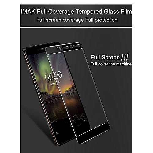 "Full Cover Tempered Glass For Nokia 6 2018 5.5"" Screen Protector For Nokia 6 Screen Protector HD 9H Protective Glass"