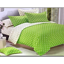 2 sided polcadot duvet cover( 1 duvet cover,1 bedsheets,4 pillowcases