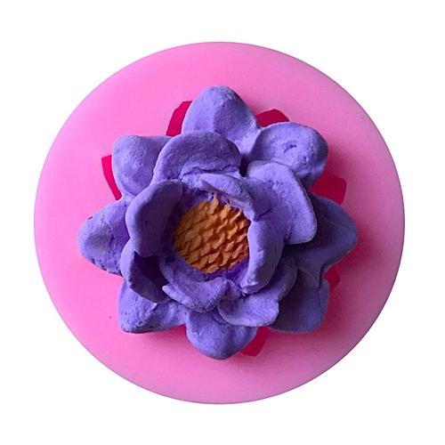Generic Gj 161 Lotus Flower Silicone Baking Cake Mold Kitchen