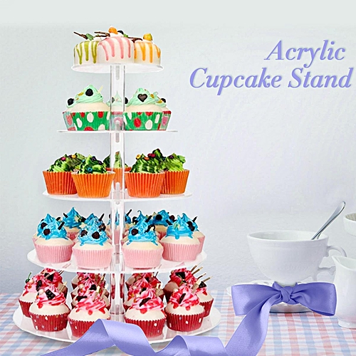 Buy Generic 3 4 5 6 Tier Clear Acrylic Round Cup Cake Cupcake Stand