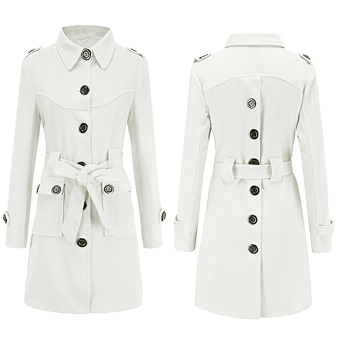 26f539f9c Fashion jiuhap store Women Winter Warm Woolen Coat Trench Parka ...