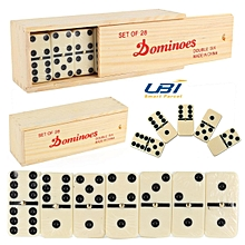 New Double Six Professional Dominoes Plastic Case 28 PieceTravel Game Kids Tiles