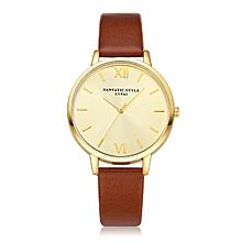 guoaivo LVPAI Watches Women Quartz Wristwatch Clock Ladies Dress Gift Watches BW -Brown