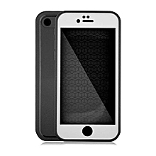 Waterproof Phone Cases For iPhone 8 plus Thin Shockproof Hybrid Rubber Soft Silicon TPU Touch Swimming Case Back Cover for iphone 8 plus - BlackWhite