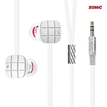 L1 3.5mm Jack Bass HiFi In-ear Earphones With 9mm Moving Coil Unit(WHITE)
