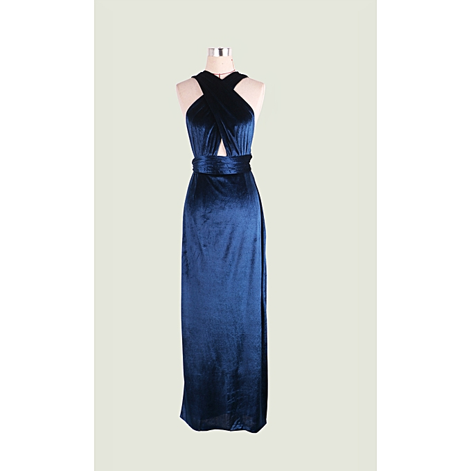 12b149351eb AFankara Slim Fit Evening Gowns Simple Solid Color Maxi Dresses ...