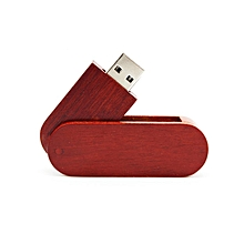 Rose Wood Rotatable USB2.0 Flash Drives Memory Stick Pen Thumb U Disk Pendrive wood color