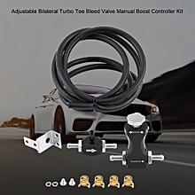 Akozon Adjustable Bilateral Turbo Tee Bleed Valve Manual Boost Controller Kit Universal for Car