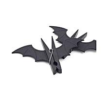 2pcs/set Bat Shape Hangers Clip Clothespin Windproof Bed Sheet Clips -Black