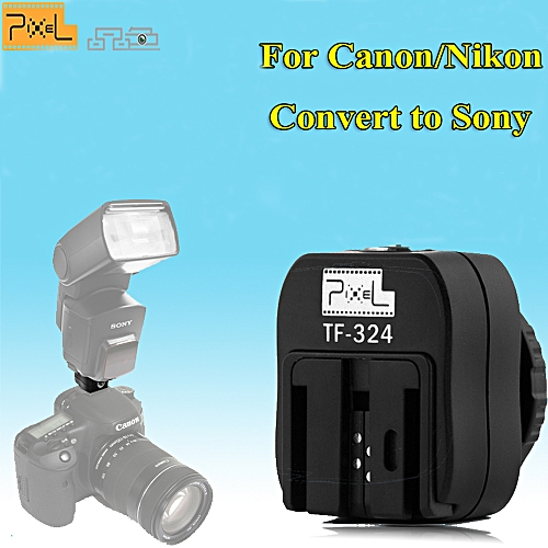 Generic PIXEL TF-324 Hot Shoe Adapter Converter For Nikon Pentax Panasonic Camera to Sony HVL-F58AM HVL-F56AM MINOLTA Speedlite