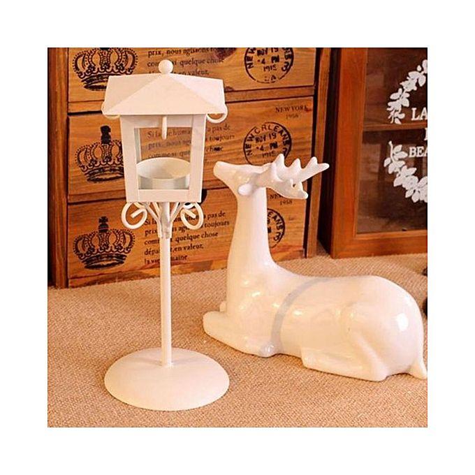 Vintage Street Lamp Design Candle Holder Tea Light Candlestick Stand White Jumia Kenya
