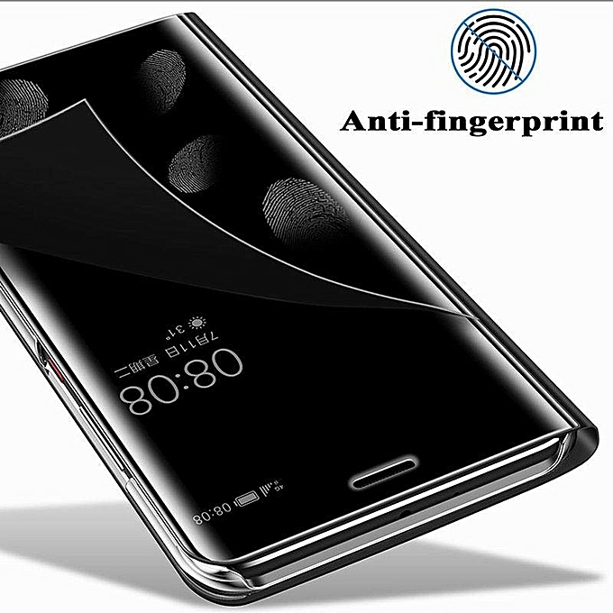 ... Luxury Mirror Clear View Smart Flip Case For OPPO F7 Leather Cover Case Housing ...