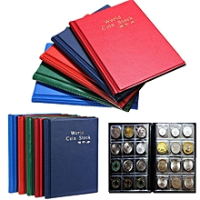 120 Collection Storage Penny Pockets Money Album Book Collecting Coin Holders