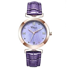 2017 new fashion women quartz watch womens shell dial leather casual dress rose gold watches ladies clock female xfcs