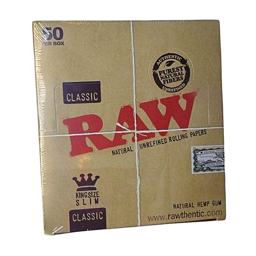 RAW Natural King Size Rolling Papers - 50 Packs Per Box