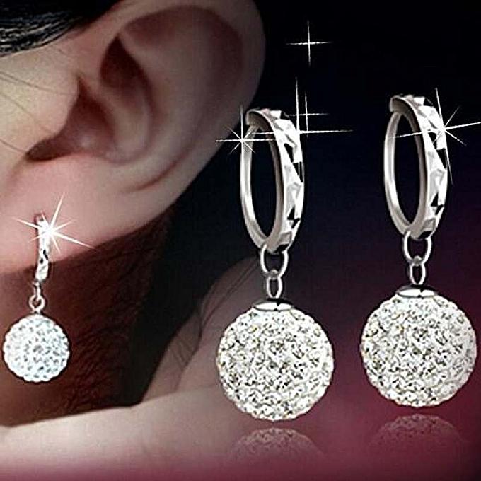 c2ec4dbcb New style Fashion New Women Crystal Gold Silver Rhinestone Sterling Elegant  Jewelry Hoop Earrings Piercing Plated ...