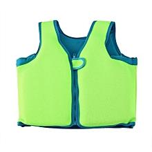 UJ Children Unisex Swimming Vest Kids Life Buoyancy Suit Auxiliary-fluorescent Green