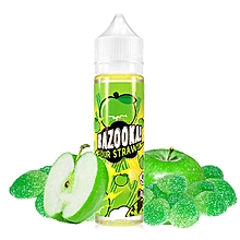 Apple Sour Straws by Bazooka!  60ML
