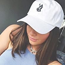 Baseball Cap Hip Hop Hat Fashion Snapback Caps -White