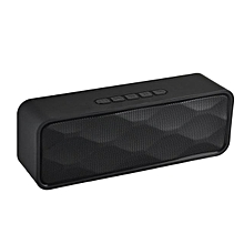 SC-211 Bluetooth Speaker Wireless Mini Portable Handsfree USB TF Card FM Radio Stereo Sound Double Speaker Subwoofer Music Player(Black)