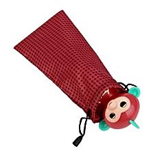 bluerdream-1x Finger Monkey Bags Portable Kids Play Storage Bag Toys Rug Box For Fingerlings Monkey RD-Red