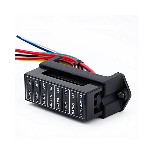 Generic 8 Way Dc32v Circuit Car Trailer Auto Blade Fuse Box Block