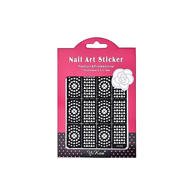 Buy Generic Reusable Stamping Tool Nail Art Template Stickers Stamp ...