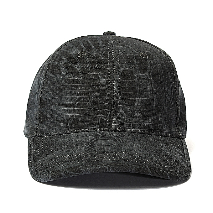339800cc59d Men Women Camo Cap Adjustable Military Hunting Fishing Army Baseball Hat  Black