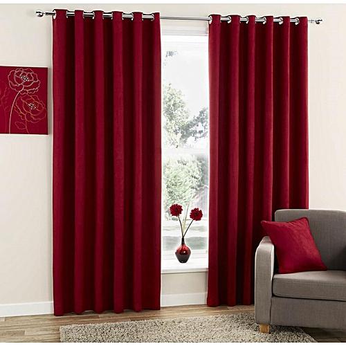 Kitchen Curtains In Kenya: Batatecreations Burgundy Curtain @ Best Price