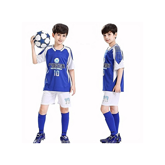 0c307c1fb Customized Blank Children Boy's Brand Football Soccer Team Training Jerseys  Uniform-Blue