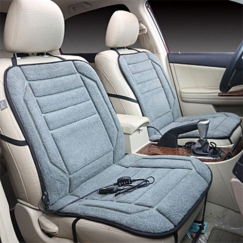 Heating Pad Electric Warm Gray Brown DC 12V Backrest Autumn Winter Car Seat