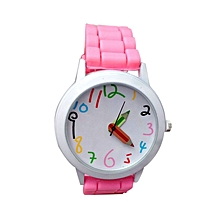 Fashion Quartz Unisex Boys And Girl's Beautiful Students All-Match Watch-Pink