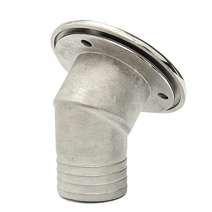 1 5 Inch Boat Deck Fill Filler Keyless Cap Marine 316 Stainless Steel  Angled Neck 5 Labels FUEL