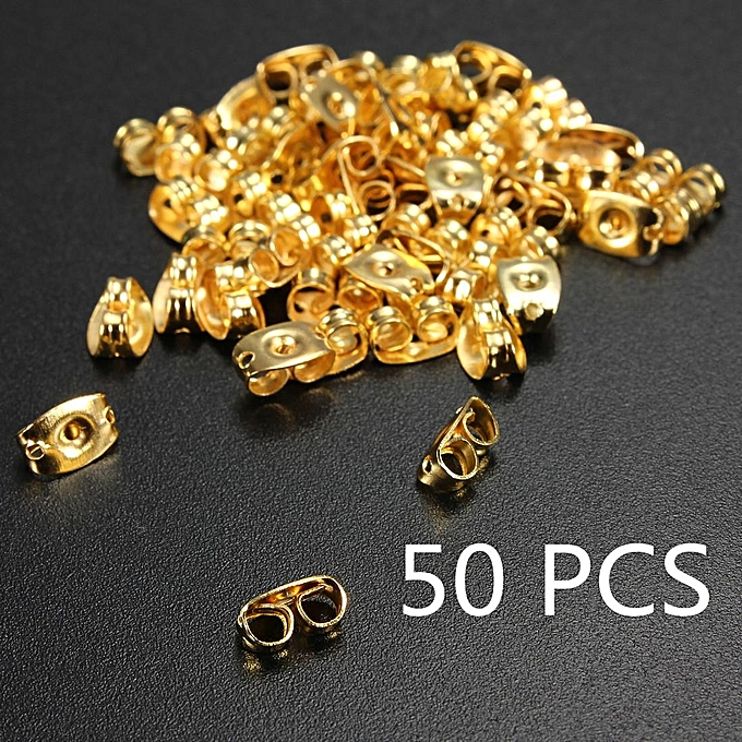 50pcs Gold Plated Erfly Earring Backs Stopper Scrolls Ear Post Nuts Findings