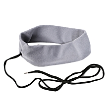 Anti Noise Sports Running Sleeping Earphone Music Headband Headphone Gift-Grey