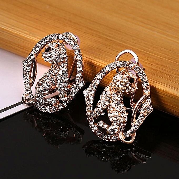 Women Jewelry Trendy Artificial Diamond Earrings Charm Wedding Gift Array