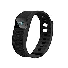 Smartband Fitness Tracker Bluetooth 4.0 Wristband Smart Pedometer Bracelet For IPhonefor Samsung  (Color:Black)