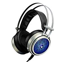 Rapoo VH50 3.5mm Audio USB Powered Bass Backlit Gaming Headphone Headphones Headset with Microphone