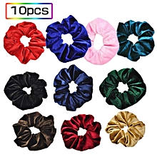 10pcs Flannelette Elastic Hair Band For Women Headband Soft Velvet Scrunchies Elastic Hairbands Stretchy Multicolor Rubber Bands Hair Accessories