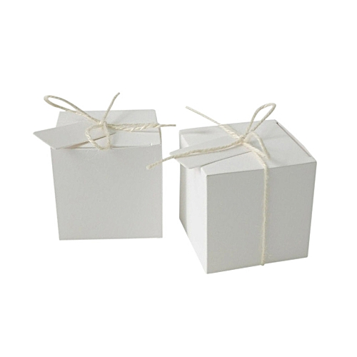 Luxury Wedding Favour Favor Sweet Boxes Place Cards Table Decorations White