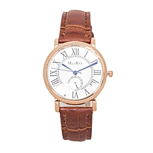 Brown PU Leather Strap Women's Mcykcy Watch.