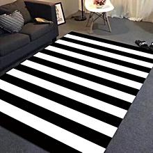 Nordic Living Room Bedroom Bedside Rug - Black And White Stripes multicolour