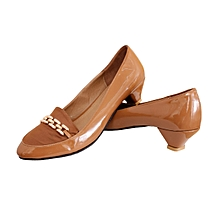 Women's Shoes Made in Egypt Mid-Low Heel Shoes - Comfortable and Stylish