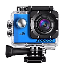 Sports Camera, SOOCOO C30 4K Action Camera 20MP 2.0 Inch Waterproof Diving Camera with 2 Batteries and 18 Accessories Kit Included - Silver + Wifi (Micro SD Card Not Included) WWD