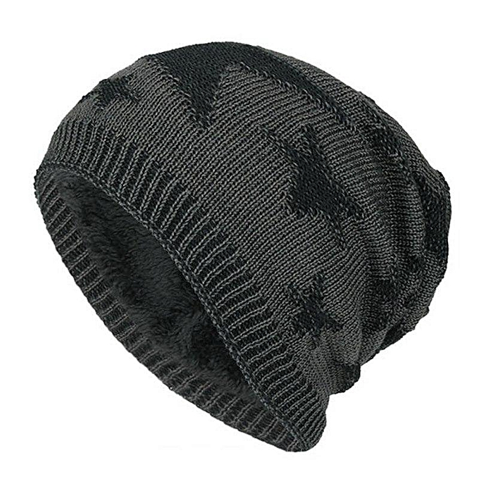 ca4073772828 Men Casual Beanie Fashion Beanies For Men Black Winter Warm Star Hats  Knitted Snow Ski Wool