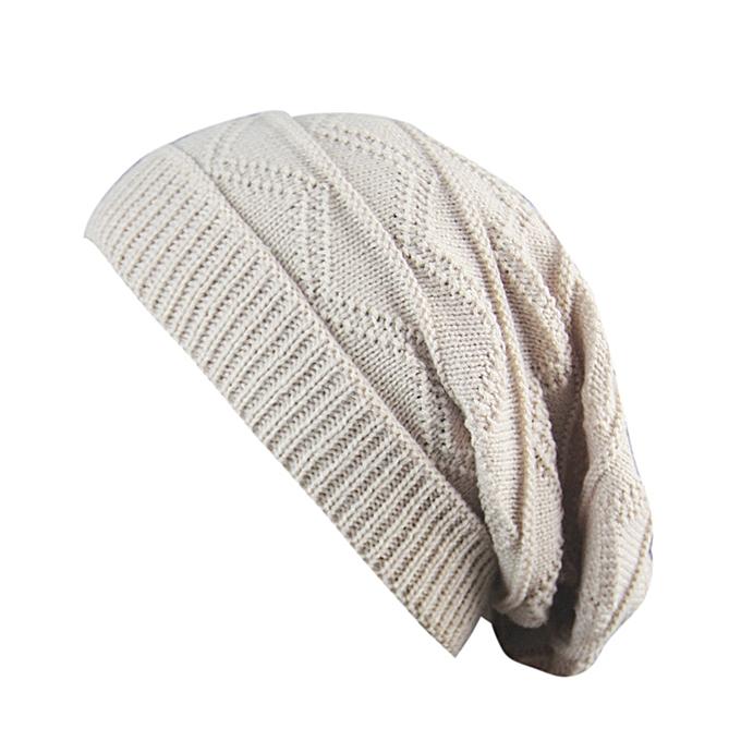 93b295b3f0b Zetenis Men Women Winter Fluff Crochet Hat Wool Knit Beanie Warm Caps -  Beige